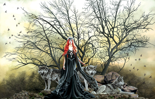 Red Haired Witch 1000 Piece Jigsaw Puzzle Nene Thomas Sunsout