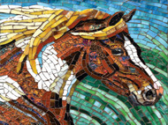 Stained Glass Horse 1000 Piece Jigsaw Puzzle Cynthie Fisher Sunsout