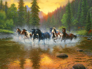 Evening Romp 1000 Piece Jigsaw Puzzle Mark Keathley Sunsout