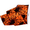 Cobwebs Black Spider on Solid Orange Satin Wide Wired Ribbon 10 Yards
