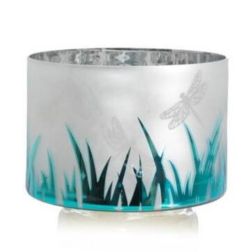 Dragonfly Flickering Glass Barrel Jar Shade Yankee Candle