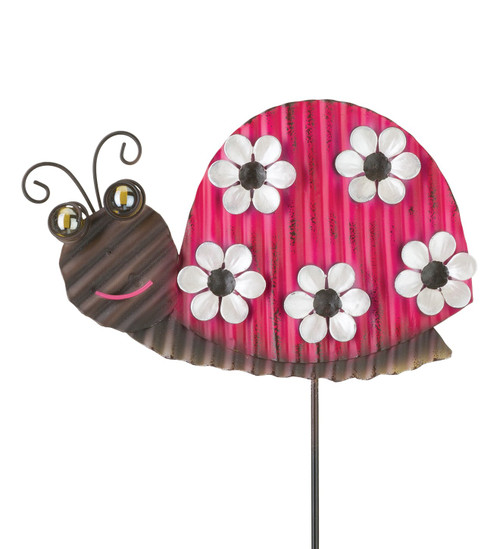 Ladybug Whimsy Metal Garden Stake Regal Gifts