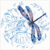 Blue Dance of The Dragonfly Stamped Cross Stitch Kit RTO