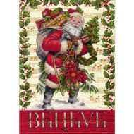 Believe In Santa Petite Gold Collection Cross Stitch Kit Dimensions