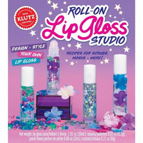 Roll-On Lip Gloss Studio Make Your Own Craft Activity Kit Klutz