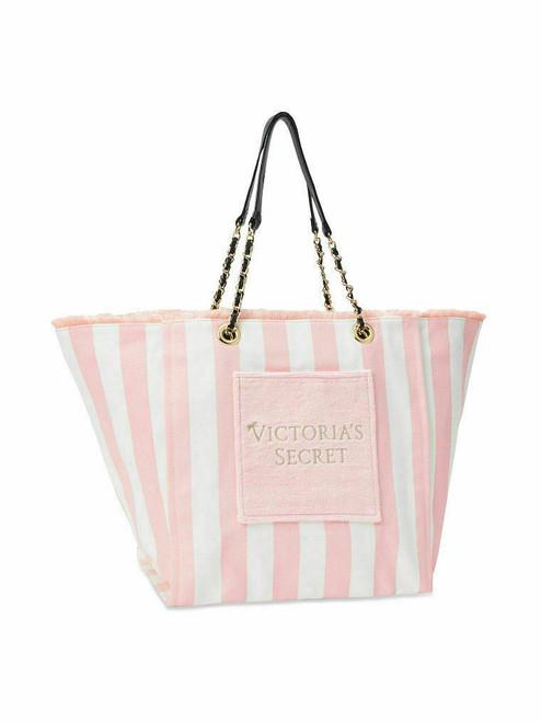 Pink White Stripe Canvas Tote Bag Victoria's Secret