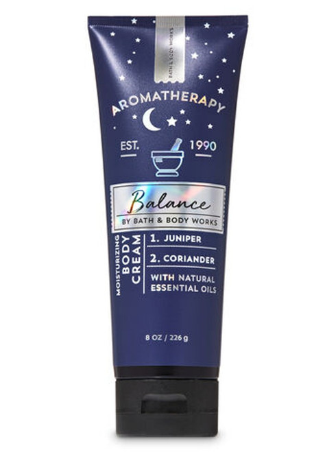 Juniper Coriander Balance Aromatherapy Body Cream Bath & Body Works 8oz