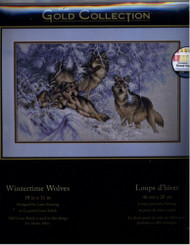 Wintertime Wolves Counted Cross Stitch Kit by Dimensions Gold Collection