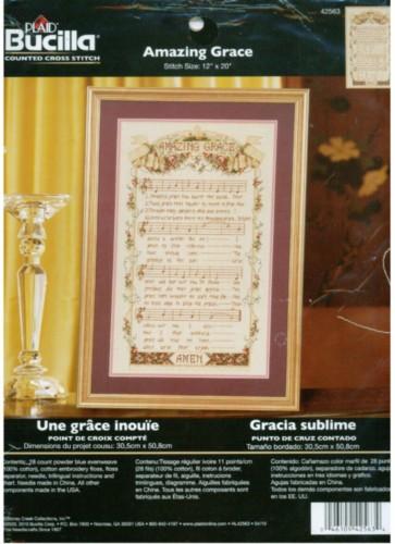 Buy Amazing Grace Counted Cross Stitch Kit Bucilla NEW