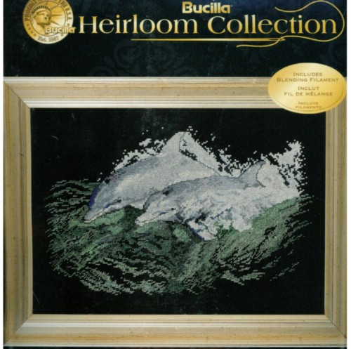 Shop for Dolphins At Play Counted Cross Stitch Kit Heirloom Collection Bucilla at Archway Variety