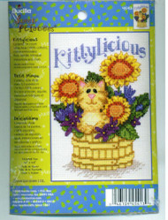 Kittylicious Cross Stitch Kit by Bucilla