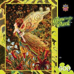 Lily Glow 500 piece Jigsaw Puzzle Miles Pinkney Glow in the Dark