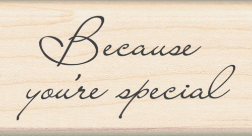 Because You're Special Inkadinkado Wood Stamp Scrapbooking Invitations Buy Here!