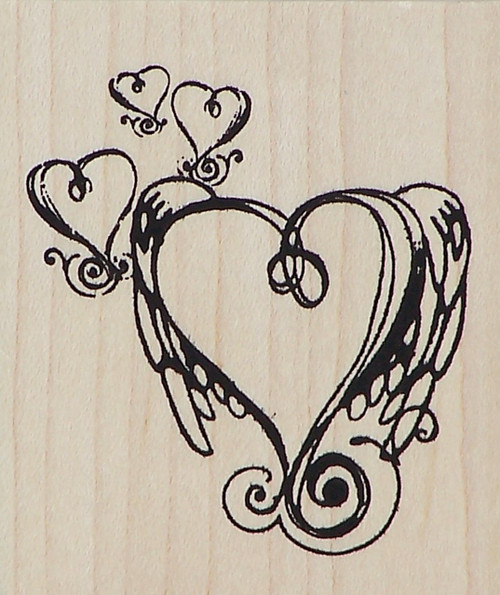Wings of Love Carillo Stamp-Buy holiday scrapbooking supplies here!