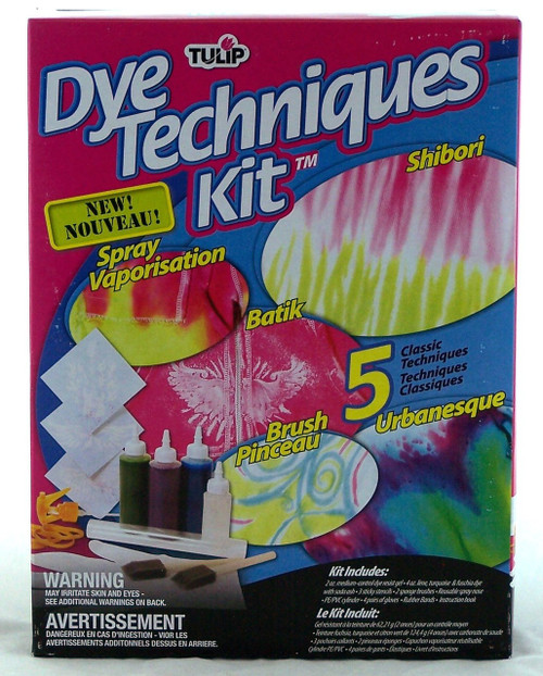 Shop here for Tulip Tie Dye Techniques Kit- Shibori, Batik, Urbanesque, Brush Pinceau, Spray Vaporization