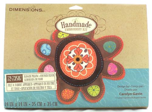 Handmade Stuffed Embroidery Kit-Flower Pillow-Buy Now!