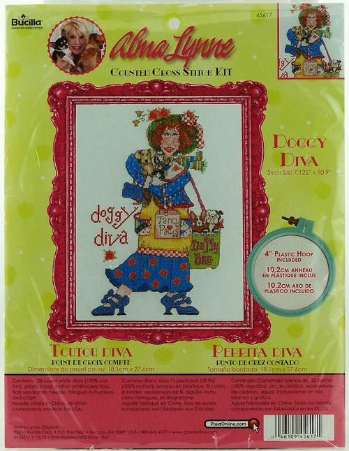 Shop now for Alma Lynne Doggy Diva Cross Stitch Kit Bucilla