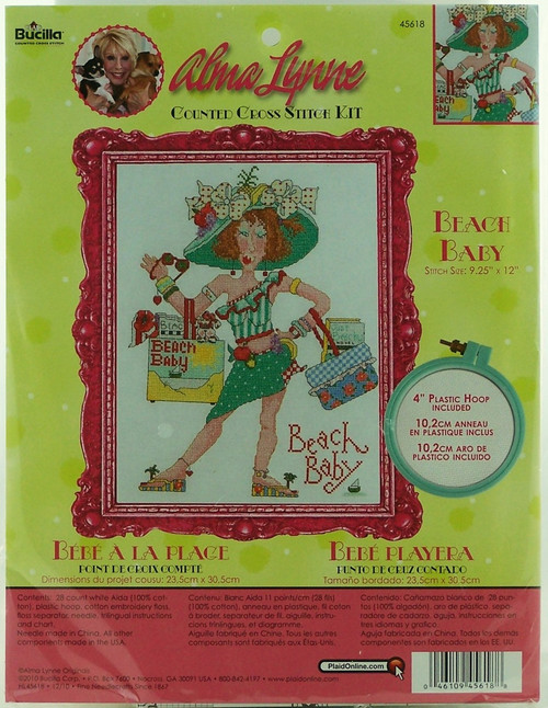 Shop now for Alma Lynne Bathing Beauty Cross Stitch Kit! Summer Fun!