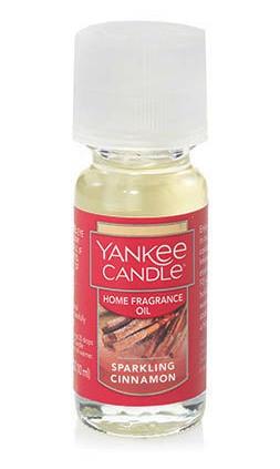 Sparkling Cinnamon Home Fragrance Oil Yankee Candle 0.3oz