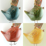 Your Color Choice Distressed BlueBird Ceramic Garden Bell! Hurry limited supply!