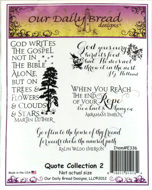 Shop now for Quote Collection #2 Cling Stamp Collection from Our Daily Bread.