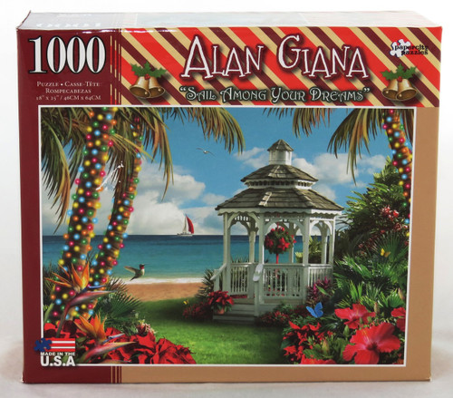 Celebrate a Tropical Christmas with Alan Giana 1000 piece Jigsaw Puzzle Sail Among Your Dreams
