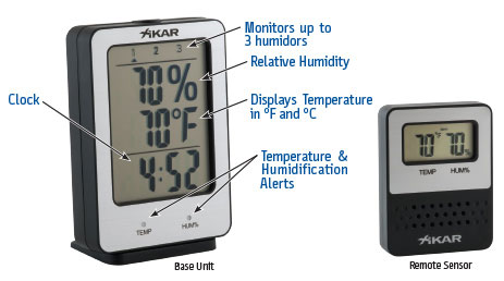 XIKAR PuroTemp Digital Hygrometers