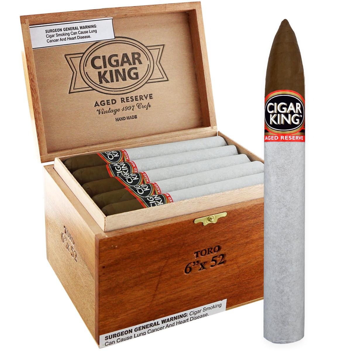 Cigar King Aged Reserve Maduro Pyramid (6x52 / Box 25)