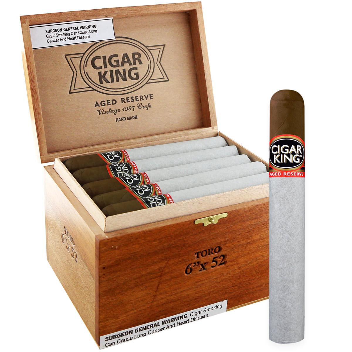 Cigar King Aged Reserve Maduro Robusto (5x50 / Box 25)