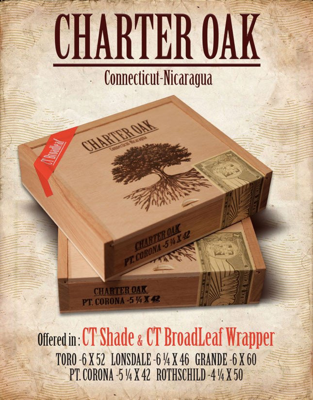 Charter Oak Maduro Rothschild (4.5x50 / Box 20)