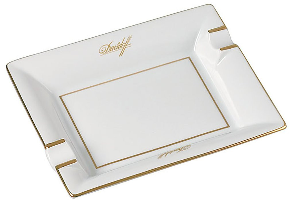 Davidoff White Porcelain Ashtray