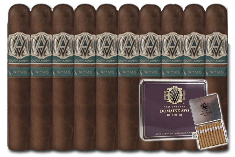 AVO Syncro South America Ritmo Special Toro (6 x 60 / 10 PACK SPECIAL) + Free Avo Domaine Purito 10-Pack + FREE SHIPPING!