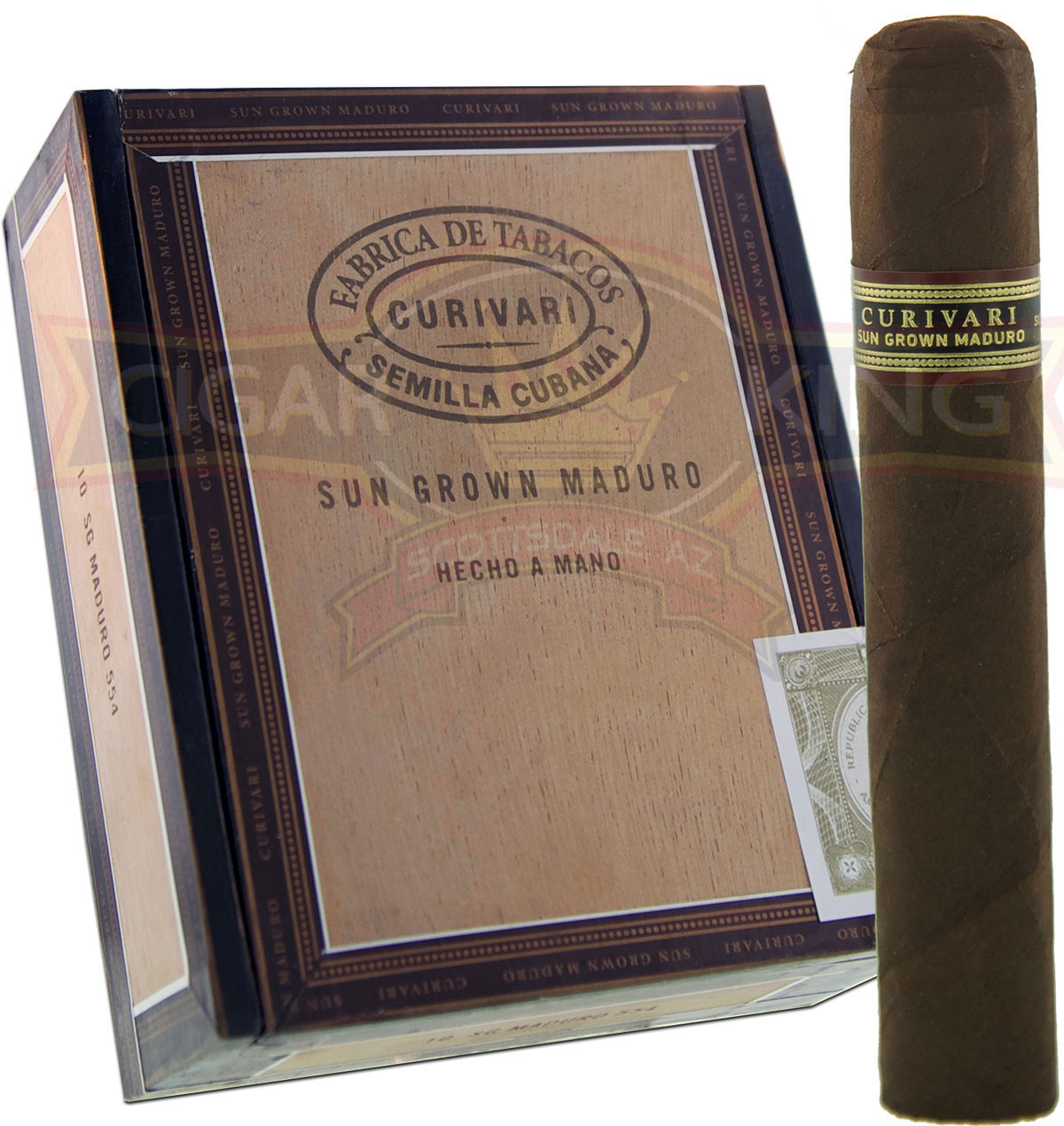 Curivari Sun Grown Maduro 554 (5x54 / Box of 10) + FREE SHIPPING ON YOUR ENTIRE ORDER!
