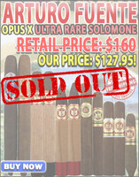 Arturo Fuente Opus X Ultra Rare Solomone Sampler (11 Cigar Special) + FREE SHIPPING ON YOUR ENTIRE ORDER!