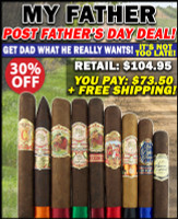 My Father Post Father's Day Sampler Special (9 CIGAR SPECIAL) + FREE SHIPPING ON YOUR ENTIRE ORDER!