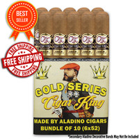 Cigar King Gold Series Bundle By Aladino Toro (6x50 / Bundle 10) + 56% OFF + FREE SHIPPING ON YOUR ENTIRE ORDER!