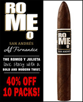 Romeo San Andres by AJ Fernandez Pyramide (6.125x52 / 10 PACK BLOWOUT) + 40% OFF!
