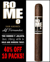 Romeo San Andres by AJ Fernandez Toro (6x54 /  10 PACK BLOWOUT) + 40% OFF!