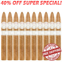Montecristo White No. 2 Torpedo  (6.13x52 / 10 Pack) + FREE SHIPPING ON YOUR ENTIRE ORDER!