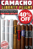 Camacho Liberty Flight 2015-2017 (8 Cigar Sampler) + FREE SHIPPING ON YOUR ENTIRE ORDER!