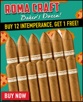 RoMa Craft Baker's Dozen Sampler (12 PACK SPECIAL) + ONE FREE ROMA CRAFT INTEMPERANCE CIGAR + FREE SHIPPING ON YOUR ENTIRE ORDER!