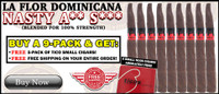 La Flor Dominicana NAS (5.5x42 / 9 PACK SPECIAL) + 5 FREE TICOS CIGARS (CARAJON SOLD OUT) + FREE SHIPPING ON YOUR ENTIRE ORDER!