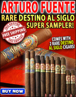 Arturo Fuente Rare Opus X Destino al Siglo Sampler (10 Cigar Sampler) + FREE SHIPPING ON YOUR ENTIRE ORDER!