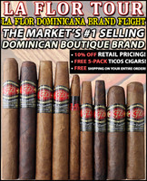 La Flor Dominicana Tour Pack (Sampler of 9) + Free 5-Pack of Ticos Small Cigars + FREE SHIPPING ON YOUR ENTIRE ORDER!