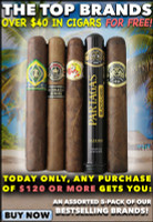 Tuesday Special: Over $40 In Free Cigars With Your Order Today!