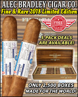 *AVAILABLE IN-STORE: CALL 480-214-0238* Alec Bradley Fine & Rare 2018 Limited Edition (6.5x56 / 5 Pack) + 15% OFF + FREE SHIPPING ON YOUR ENTIRE ORDER!