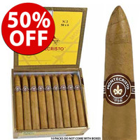 Montecristo No. 2 Torpedo (6.12x52 / 10 Pack) + 50% OFF + FREE SHIPPING ON YOUR ENTIRE ORDER!