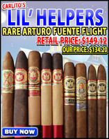Arturo Fuente Rare Opus X Carlitos Lil' Helpers (9 CIGAR SAMPLER) + FREE SHIPPING ON YOUR ENTIRE ORDER!