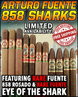 Fuente Rare 858 SHARKS Flight (11 CIGAR SPECIAL) + FREE SHIPPING ON YOUR ENTIRE ORDER!