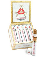 Montecristo White Montecristo Court Tube (5.5x44 / Box 15) Includes Free Dupont MiniJet White Camouflage Torch